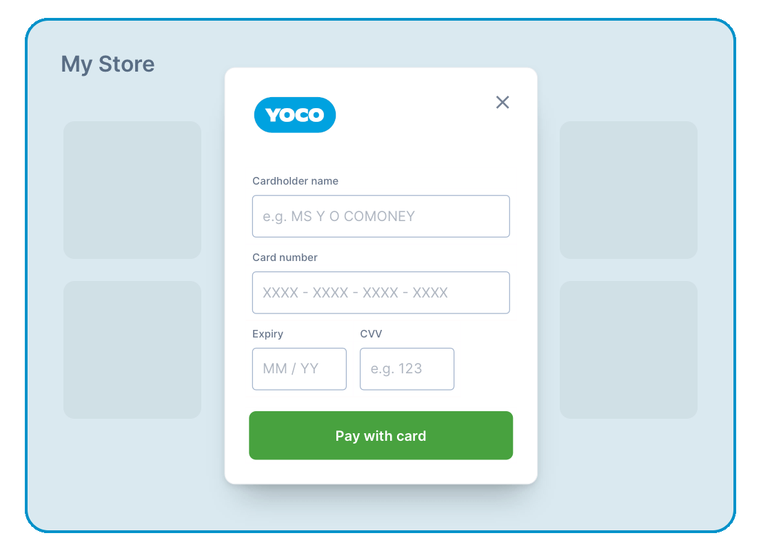 Popup - Yoco Online Payments